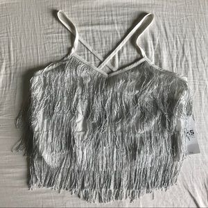 Tops - NWT Fringed top